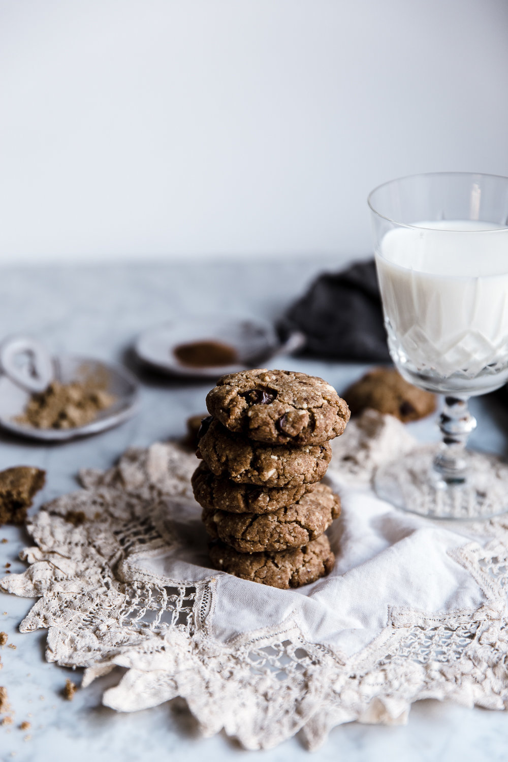 Ginger and Double Chocolate Chip Spelt Cookies | Anisa Sabet | The Macadames-131