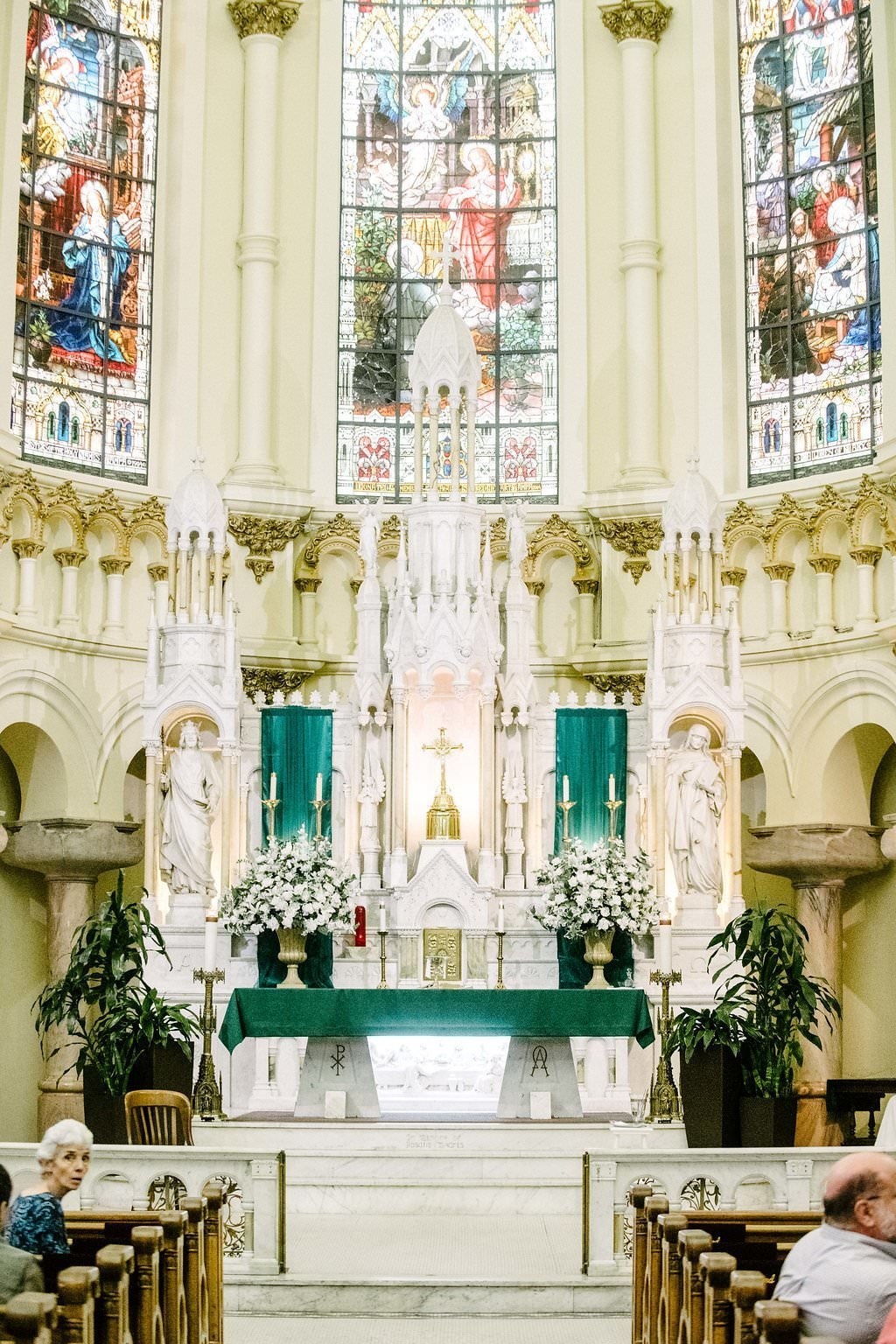 traditional church alter for wedding