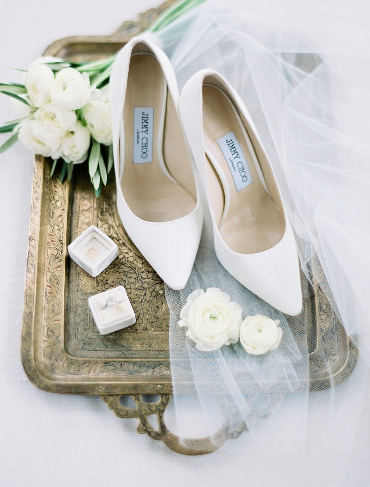 fine art film photographer wedding details louboutin wedding shoes