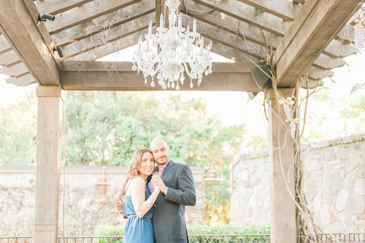 V Marketplace Wedding Gazebo Napa Engagement Photos