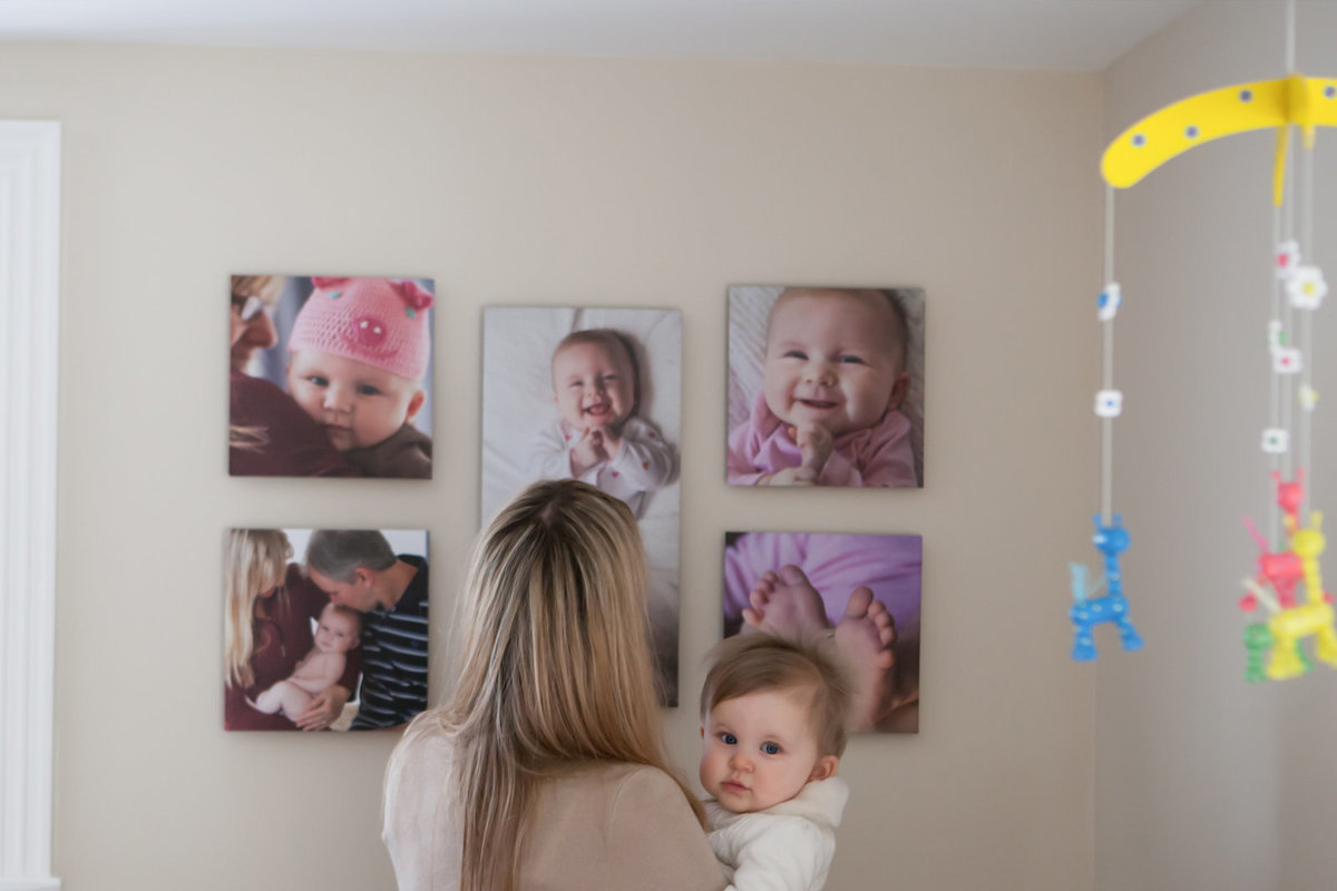 Wall Art of Babies First Year Photography