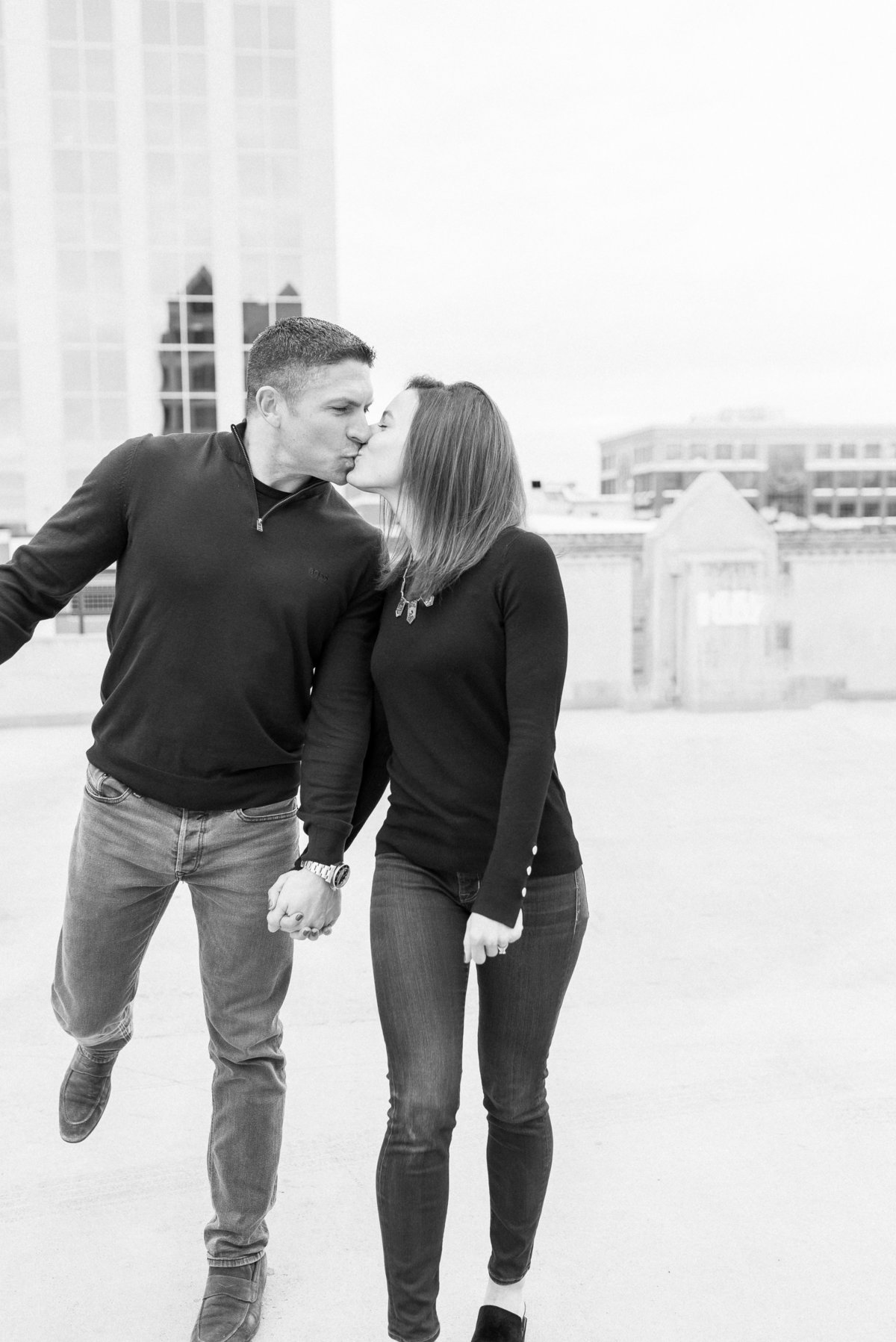 A Winter Downtown Boise Rooftop Engagement Shoot 005