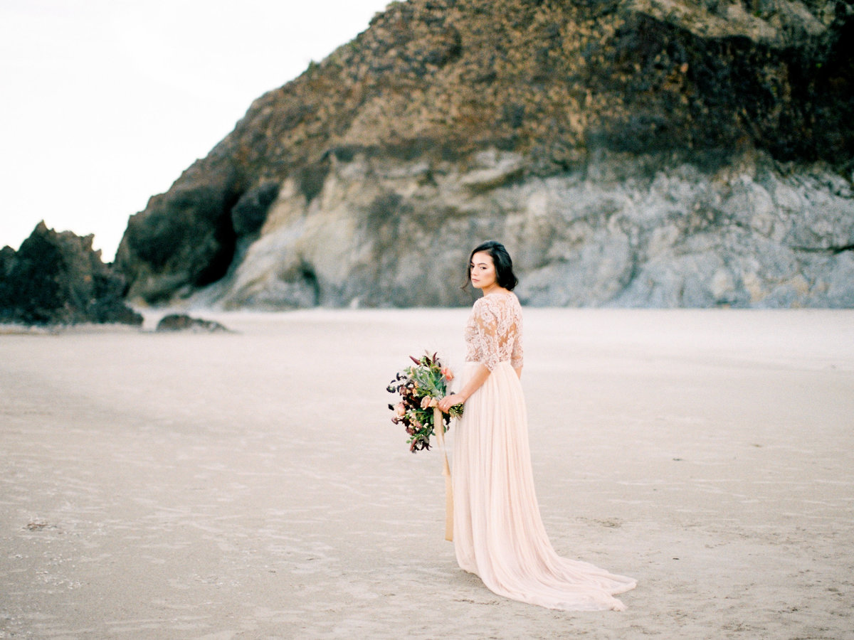 bridal portrait cannon beach