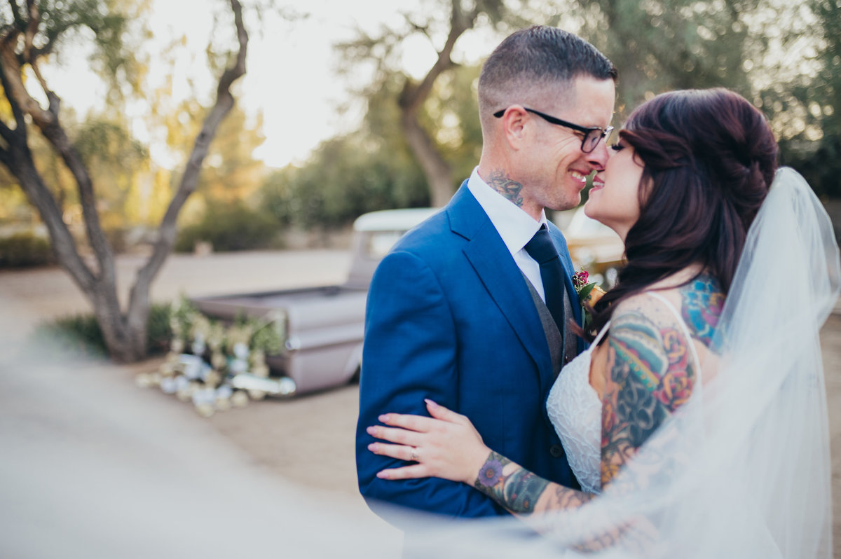 A small wedding at Cosanti in Scottsdale, Arizona