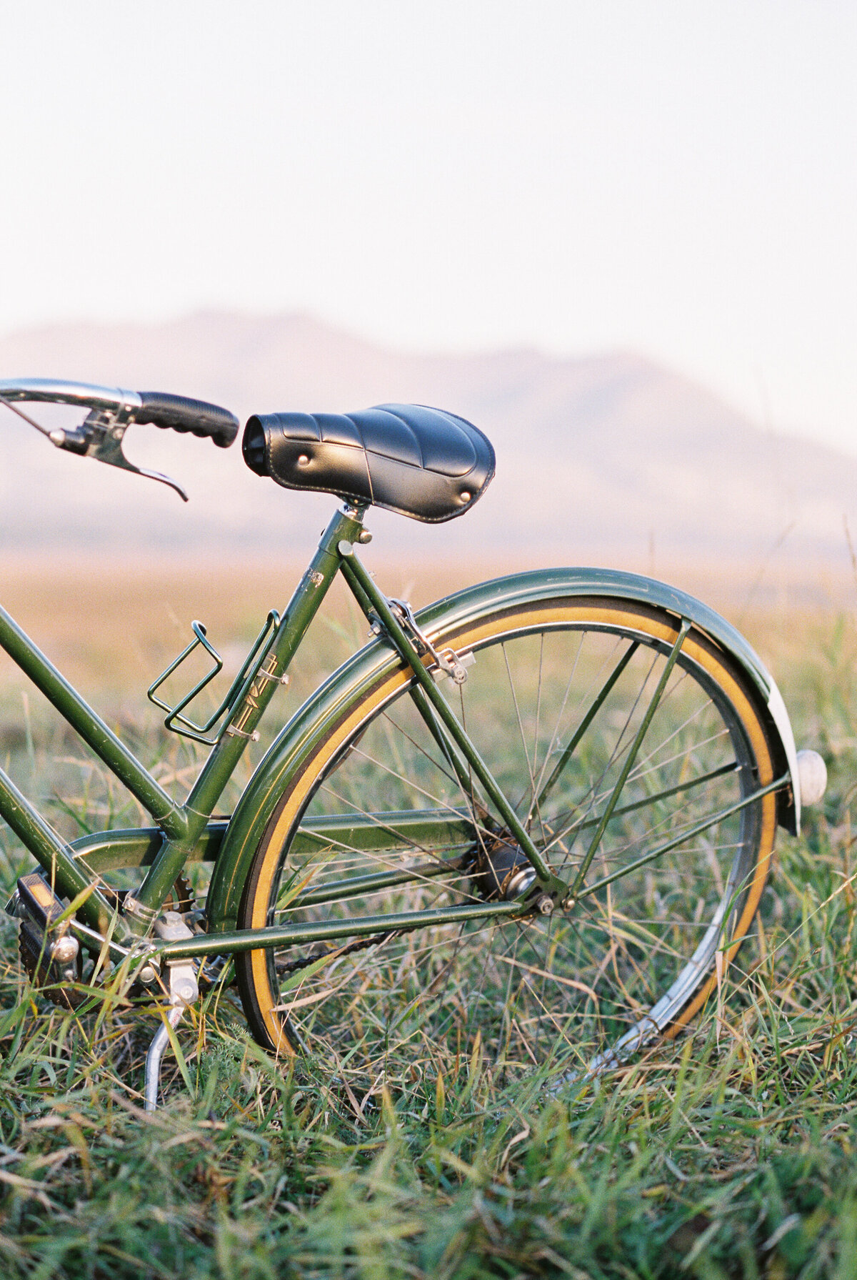 Alaska photoshoot vintage bike
