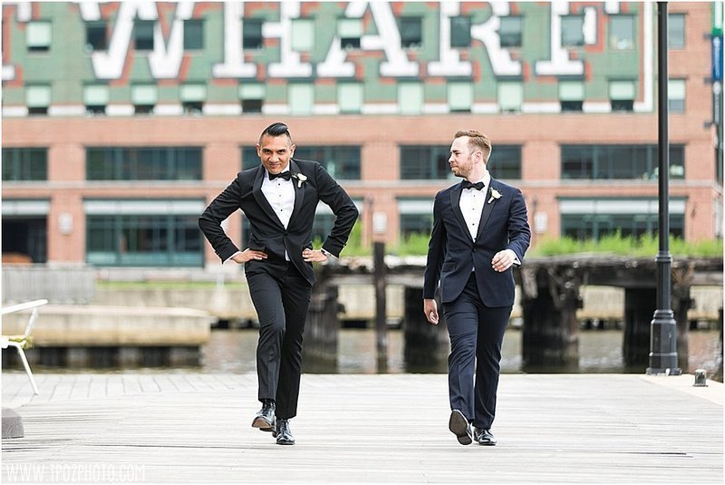 model walk-off at a Gay wedding at the Frederick Douglass Maritime Museum in Baltimore