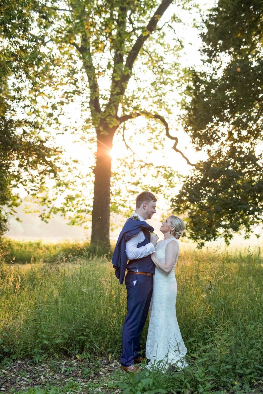 Sunset wedding photography at Rockbeare Manor Exeter