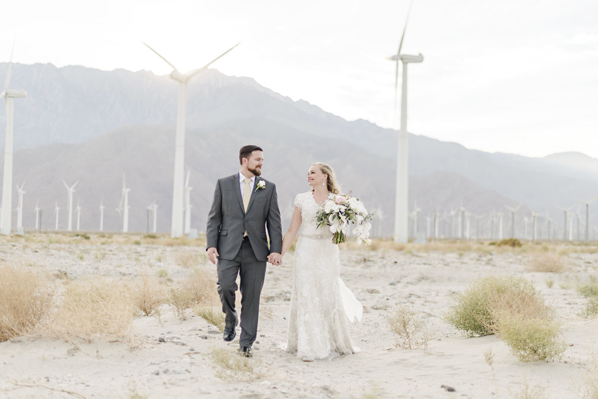 Palm Spring Windmills Wedding Photography