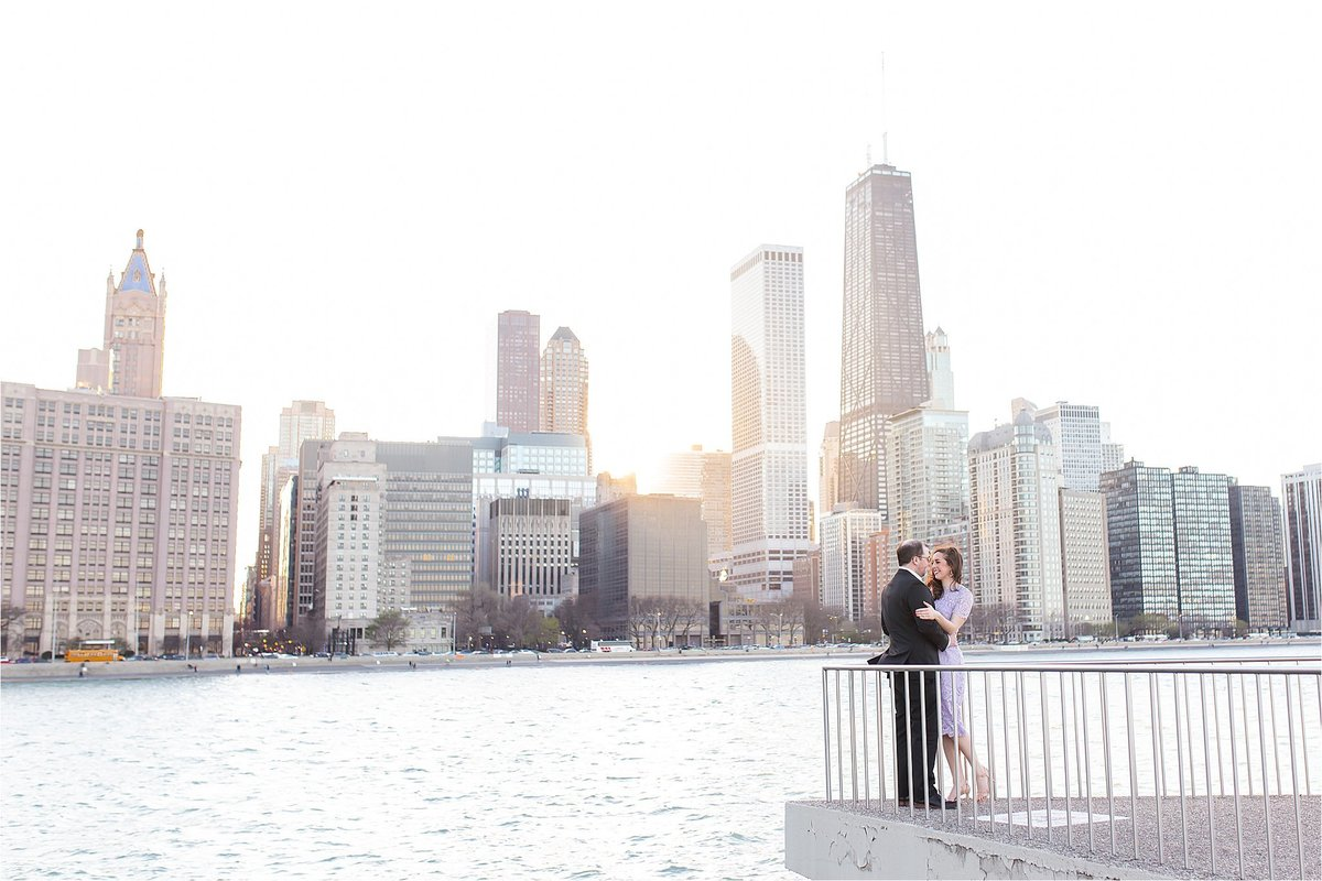 Classy Engagement Session at Olive Park in downtown Chicago