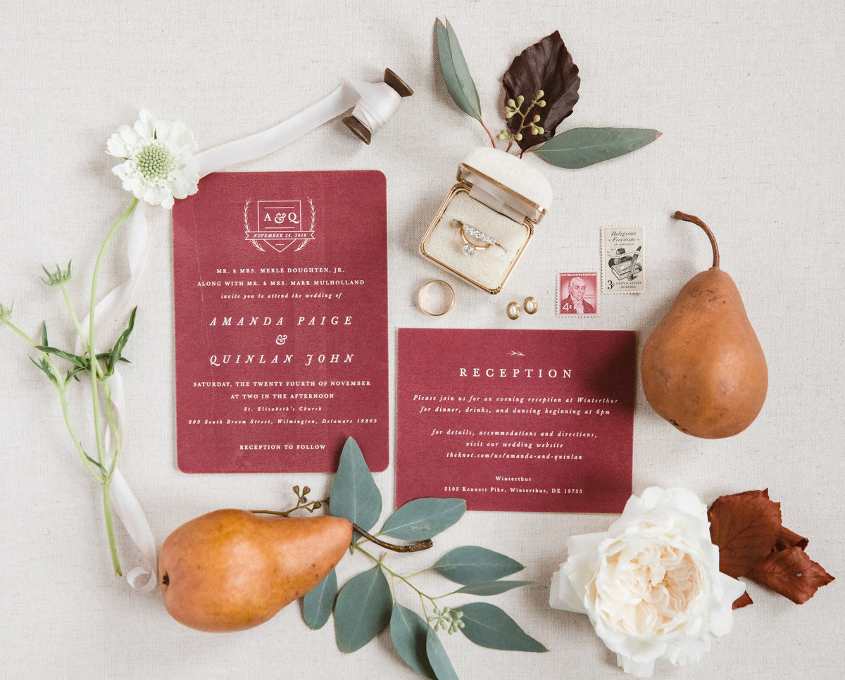 wedding invitation Wilmington Delaware