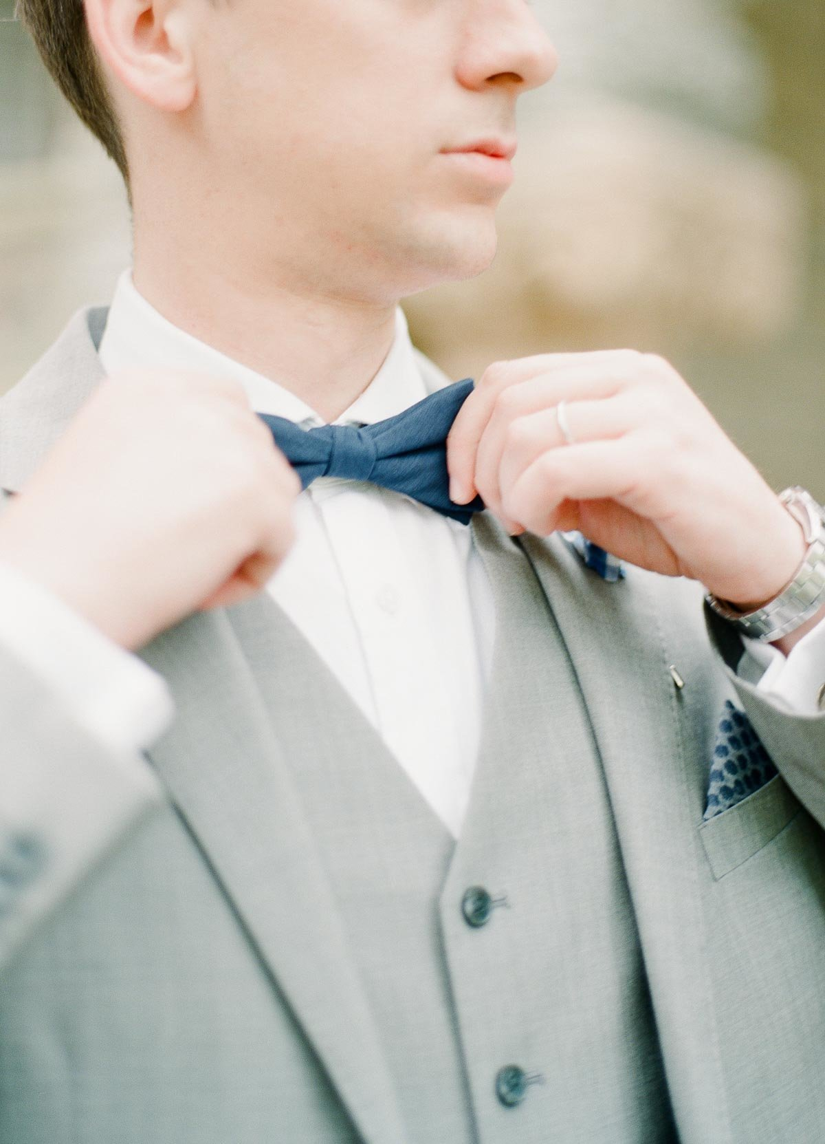 film photography of groom in suit elopement photography minneapolis minnesota