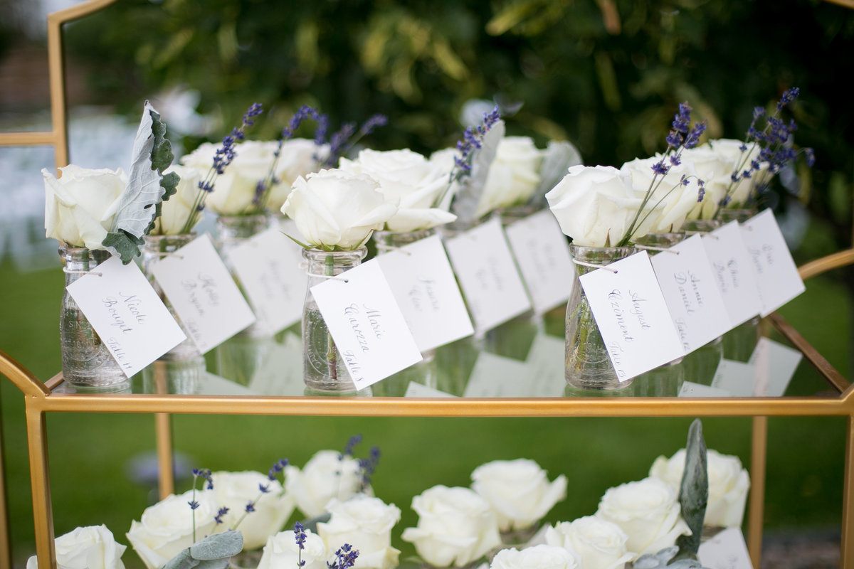individual rose seating chart for wedding