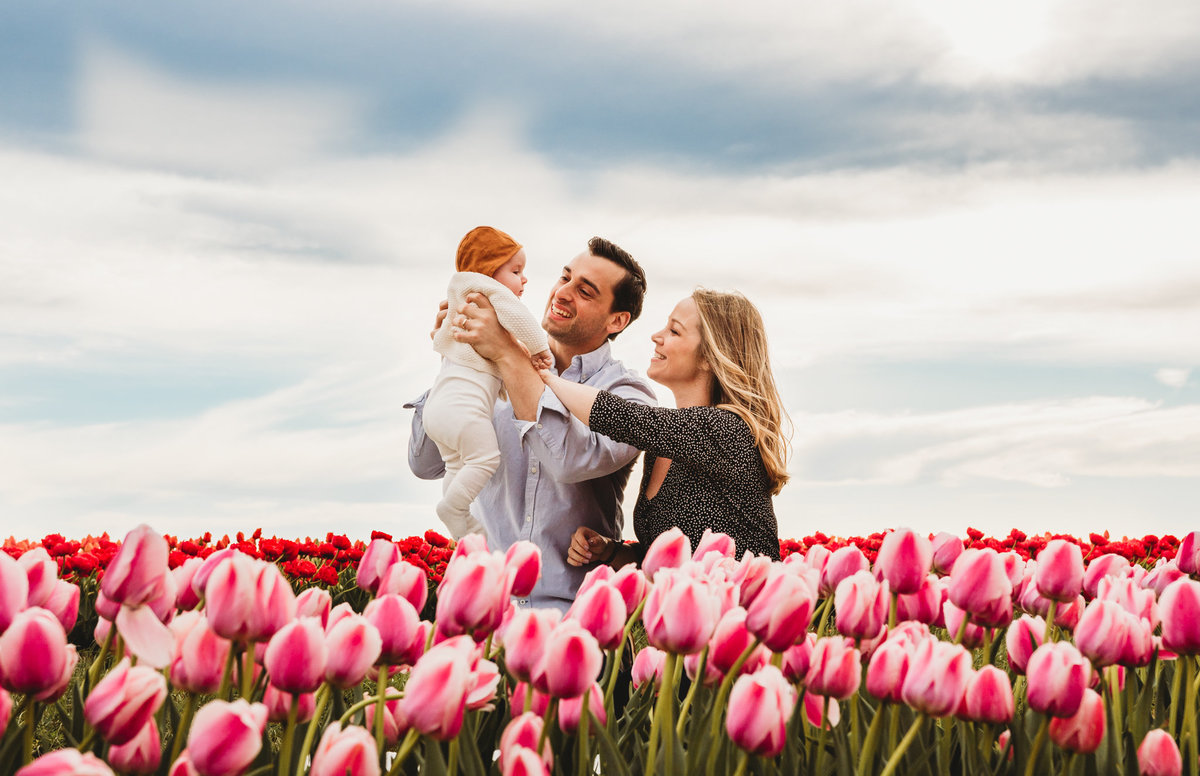 tulip farm family photographer nj