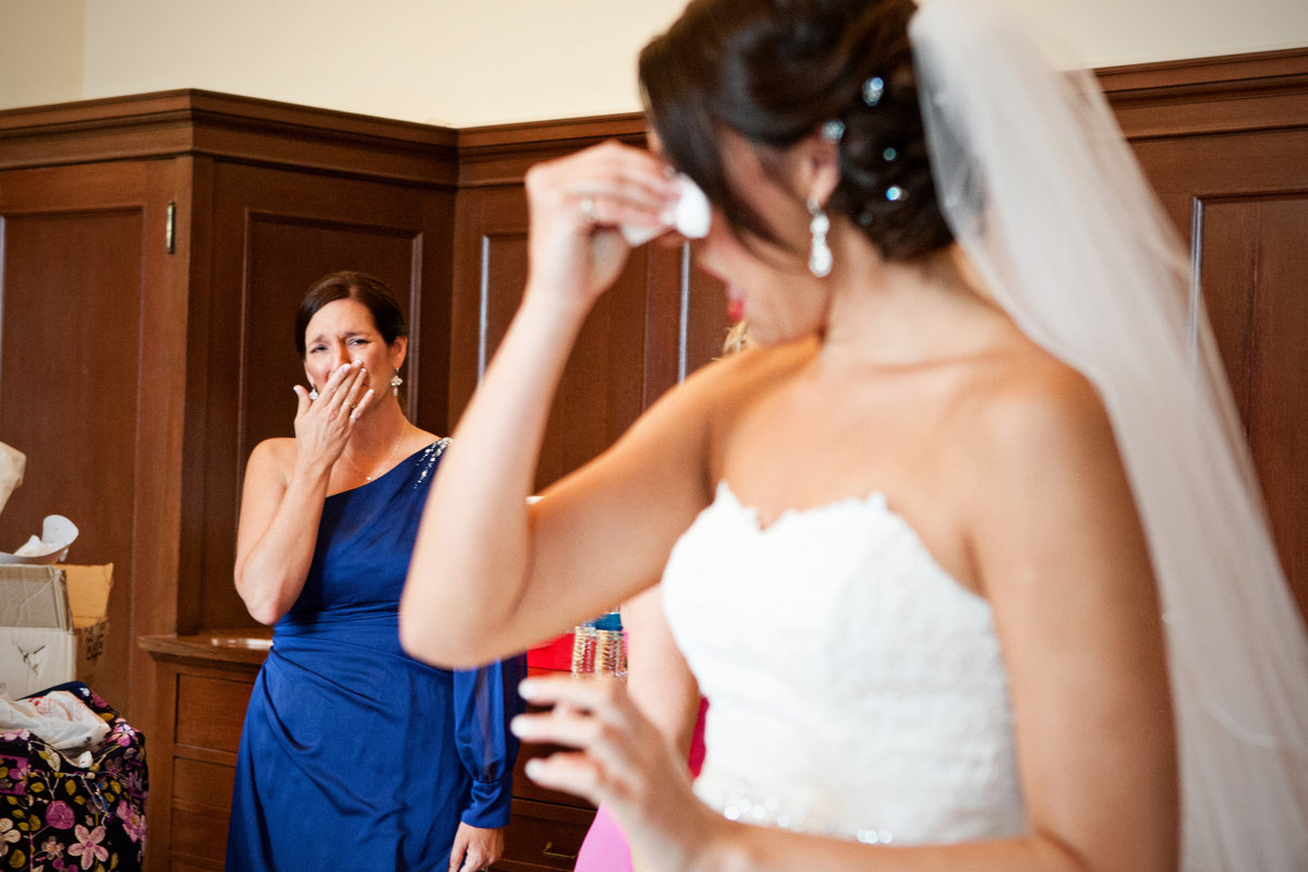 Mom and Bride crying