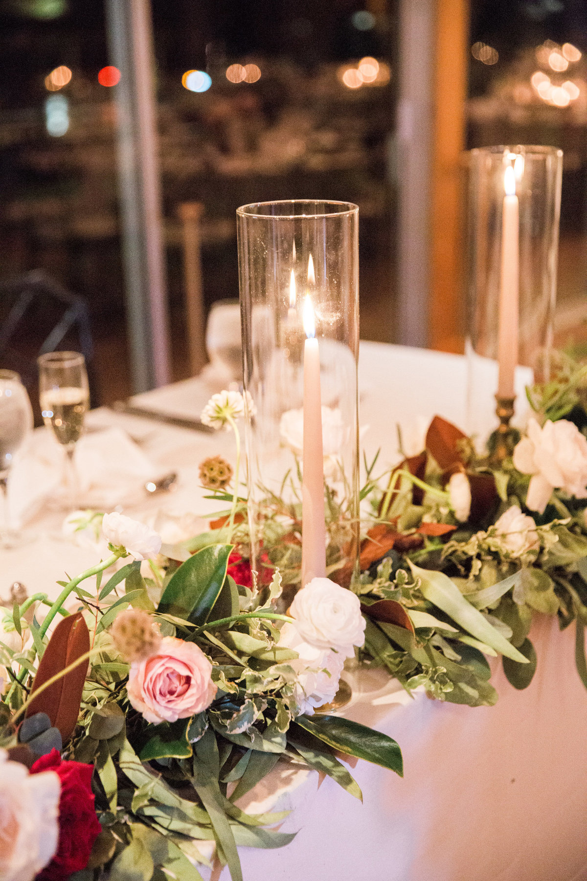 head table Winterthur wedding florist Wilmington Delaware