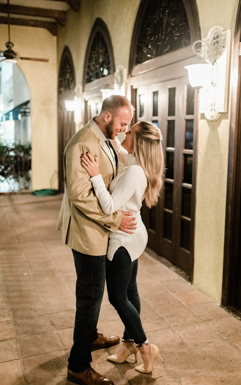 Naples 5th Avenue Night Engagement Photos