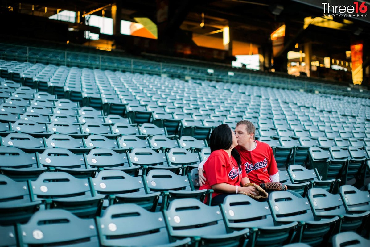 Angel Stadium Engagement Session Orange County Wedding Photography