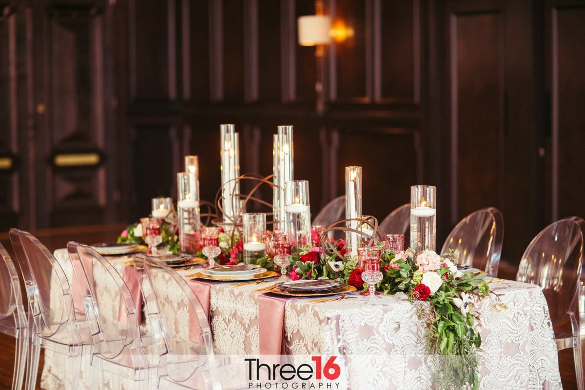 Ebell Long Beach reception table setup is stunning