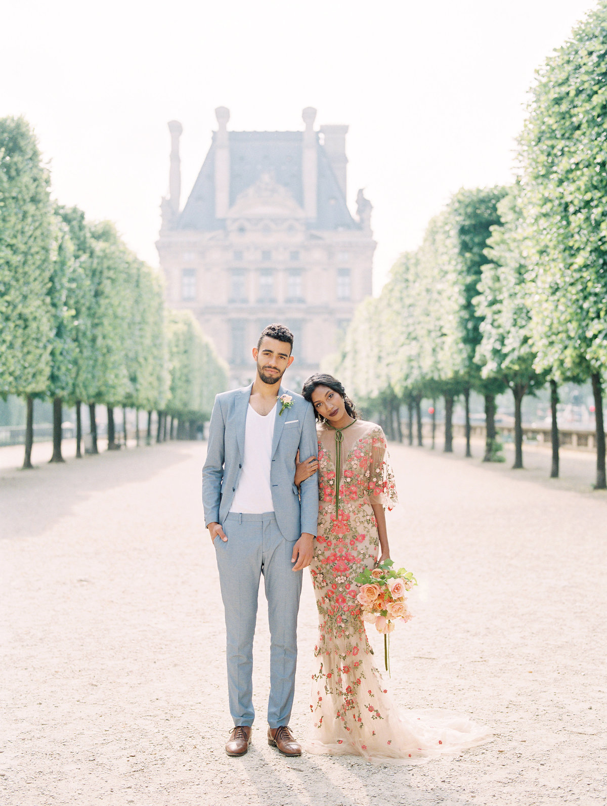 Marchesa Gown -Engagement in Paris, France at the Tuileries