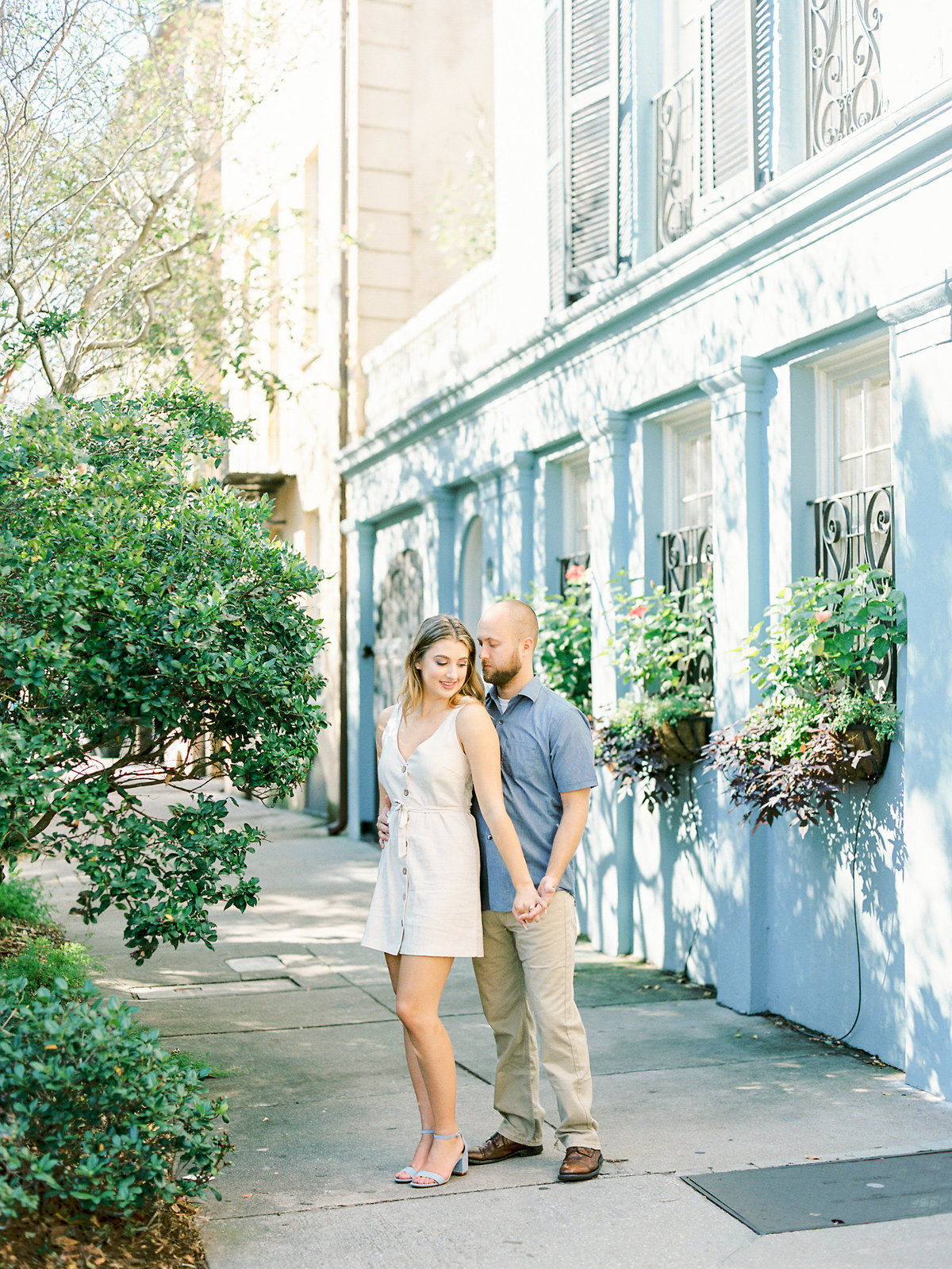 Rainbow-Row-Downtown-Charleston-Engagement-24