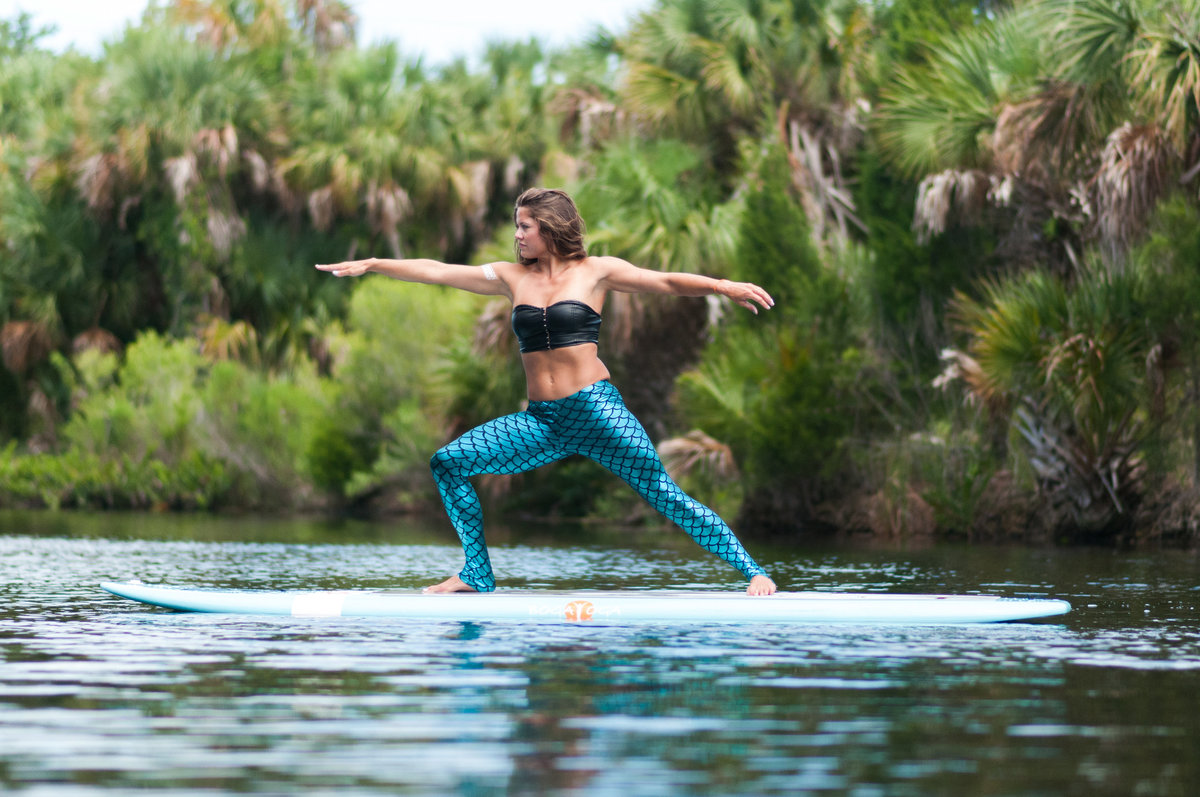 yoga on paddle board