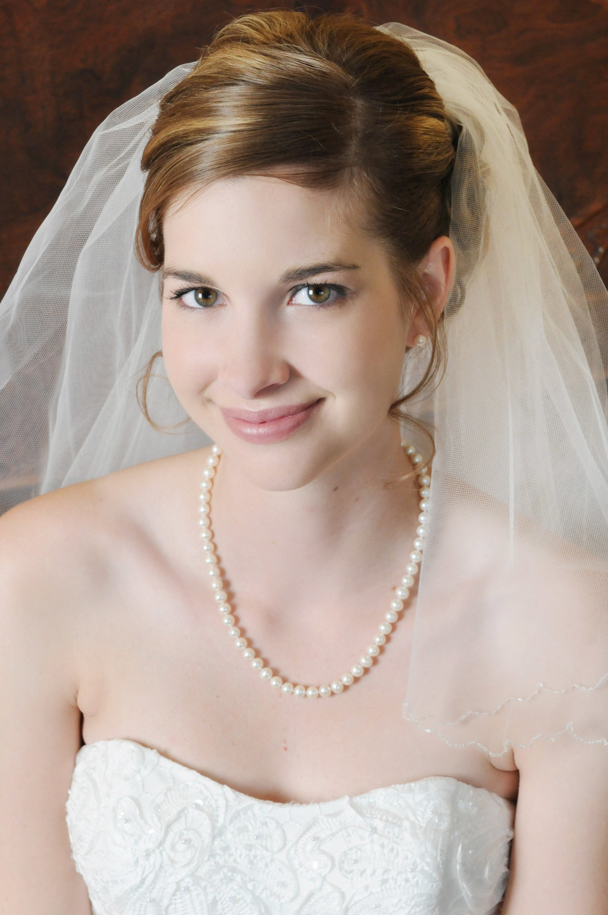 portrait of a bride in home in Yuma , Arizona