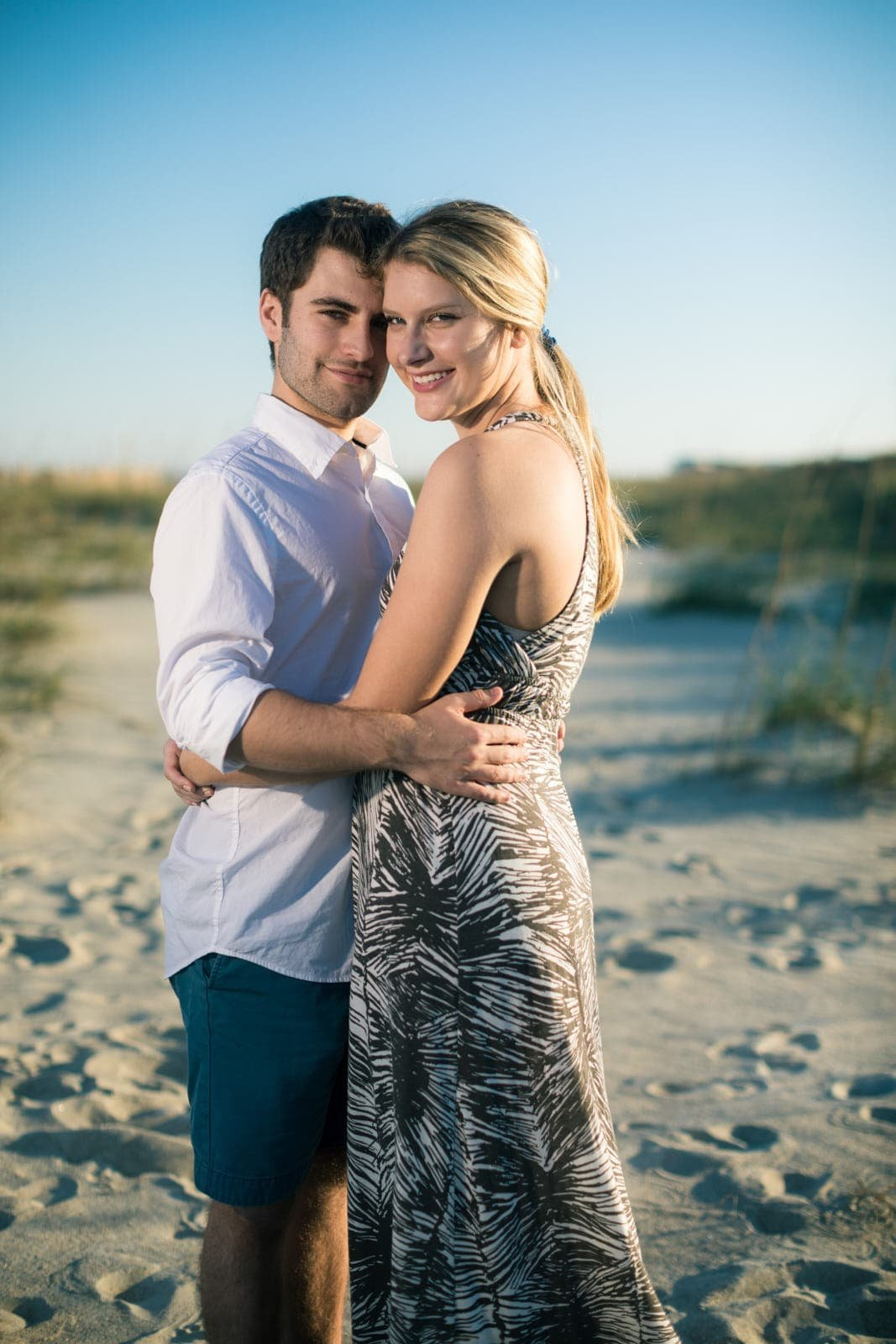 Mike Glatzer Photography beach engagement portrait