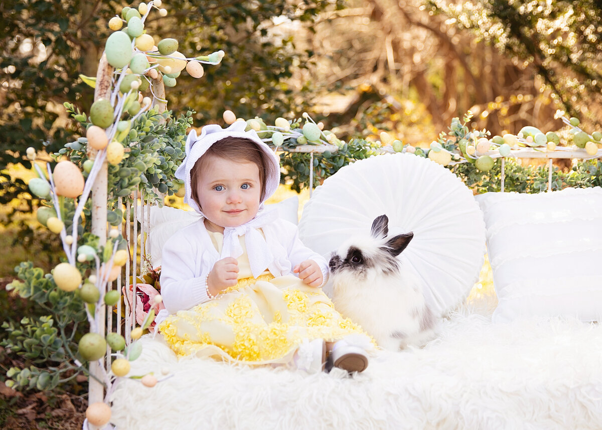 baby cute easter bunny