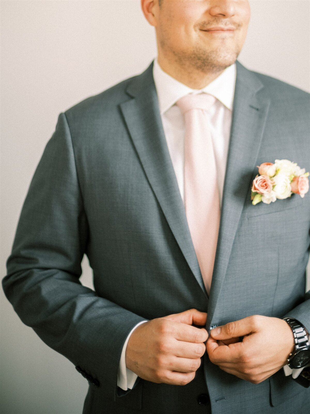Groom with Suit Jacket for Micro Wedding