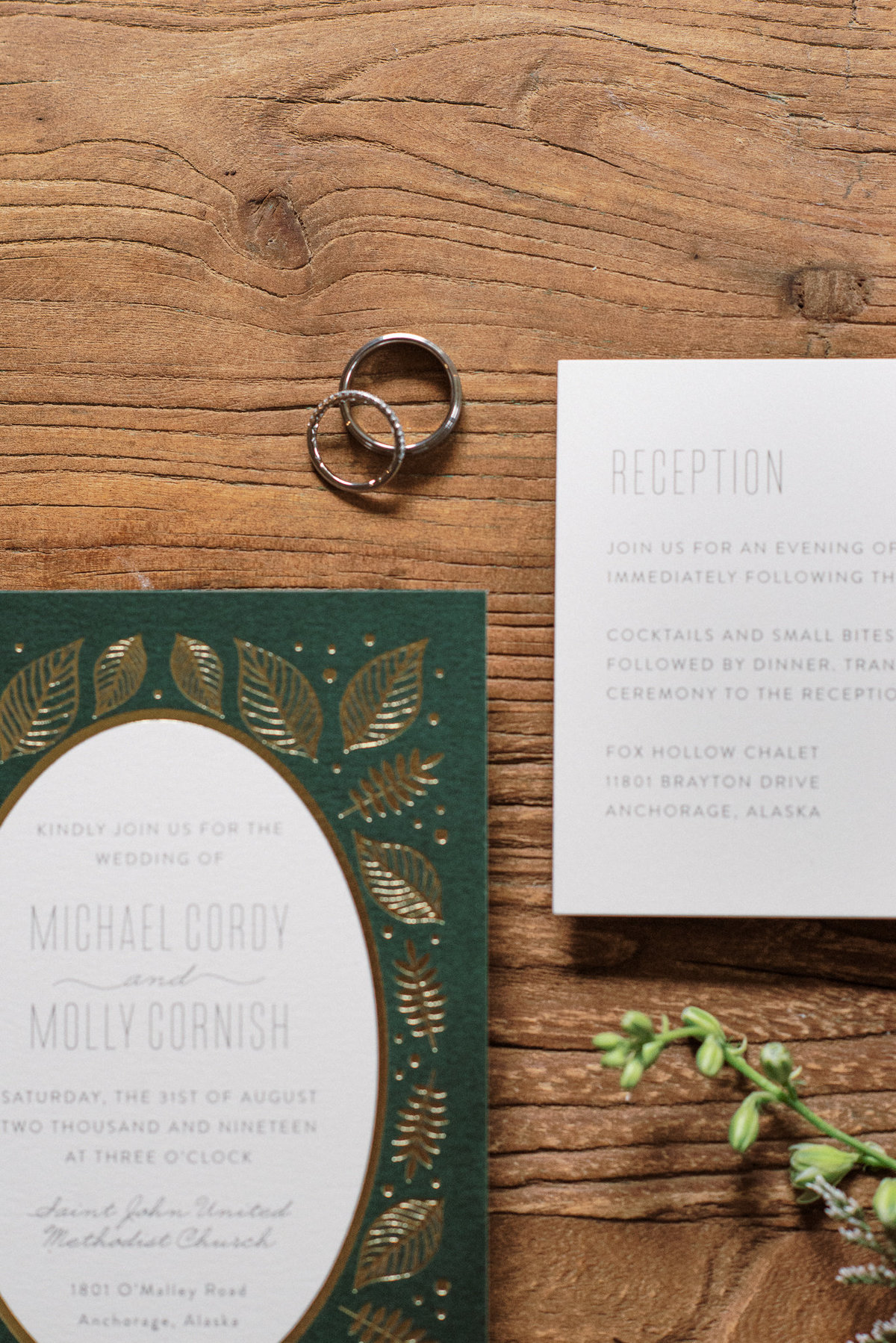 Alaska wedding invitations