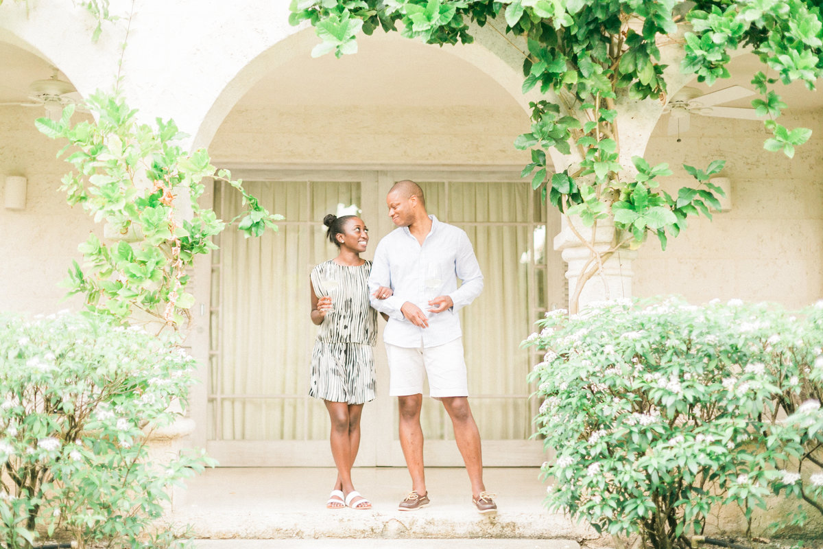 Barbados Villa Engagement Session Sandy Lane