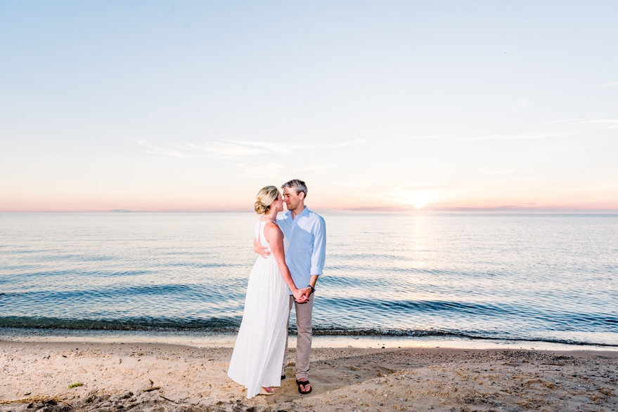 michigan beach engagement photography