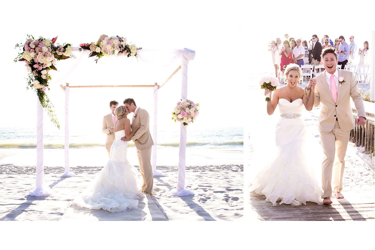 ritz carlton naples florida beach wedding photo