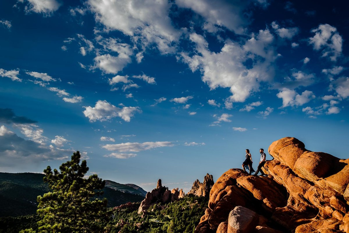 garden of the gods engagement  by stephane lemaire photography