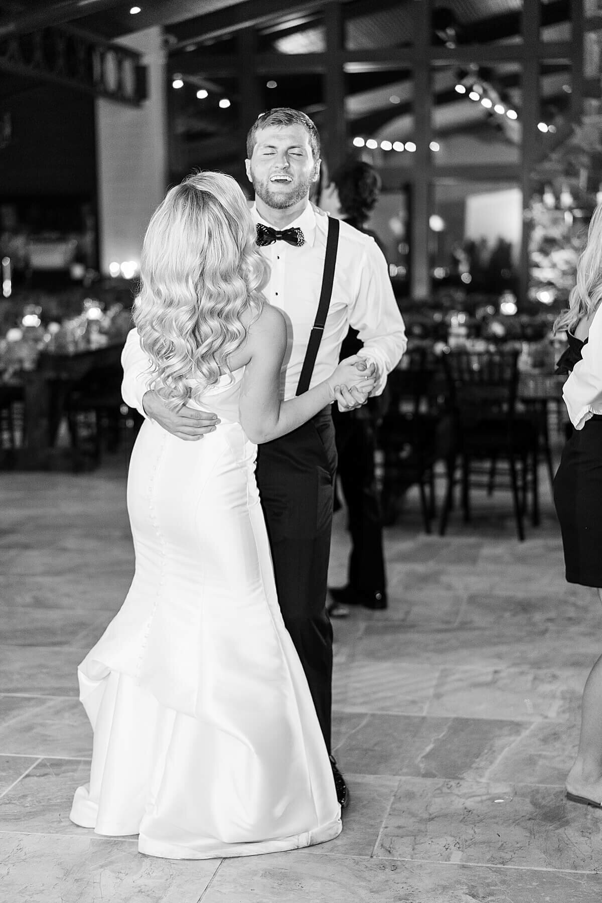 Grand Exit at Black and White Wedding at The Annex Wedding Venue photographed by Alicia Yarrish Photography