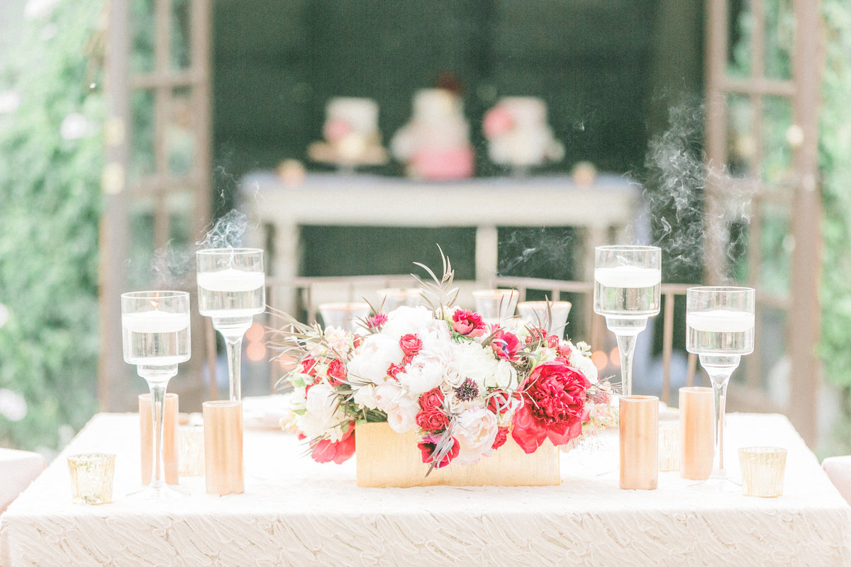 Rustic French Wedding Reception Decor