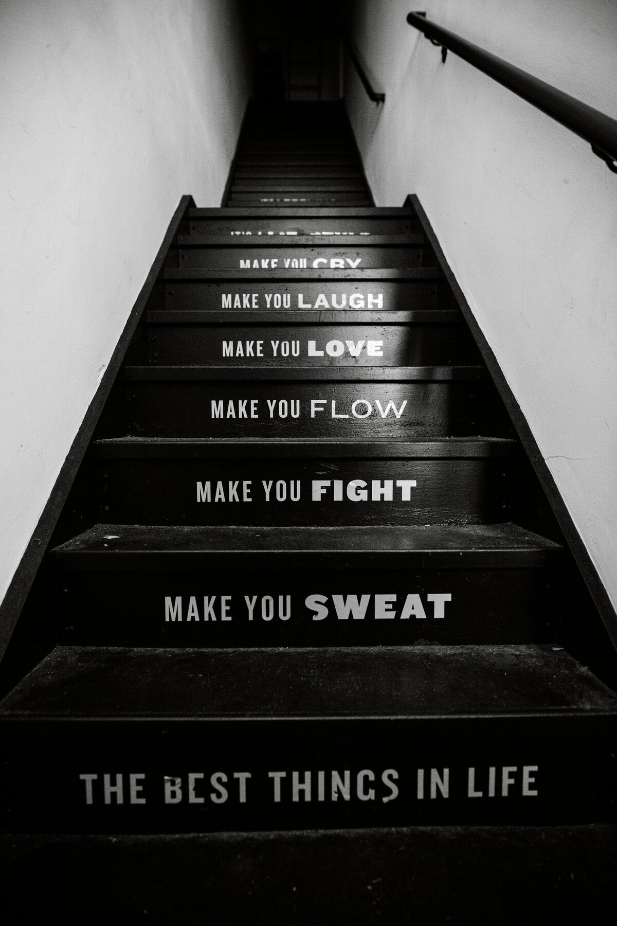 stairs with words