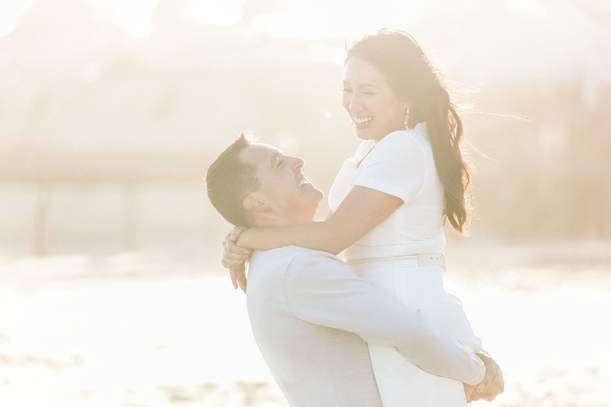 Golden Hour Light Engagement Photos