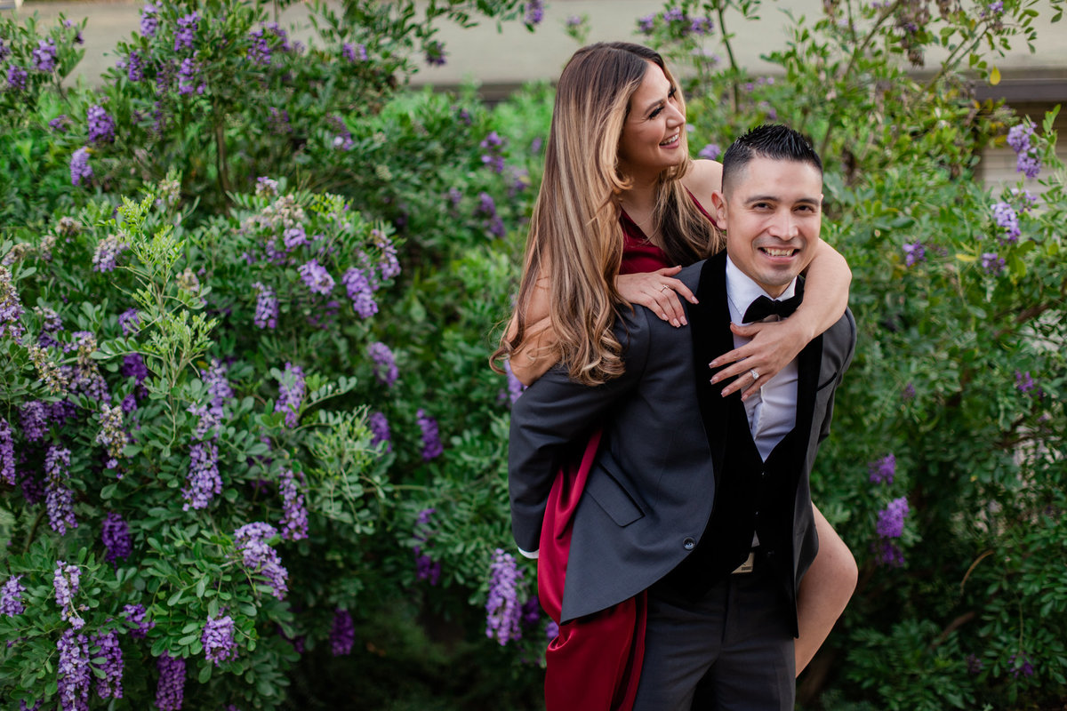 UC Riverside Botanical Gardens, Engagement Photography, Riverside Phototgrapher, Garden Engagement, Couple Photography, Red Dress-97