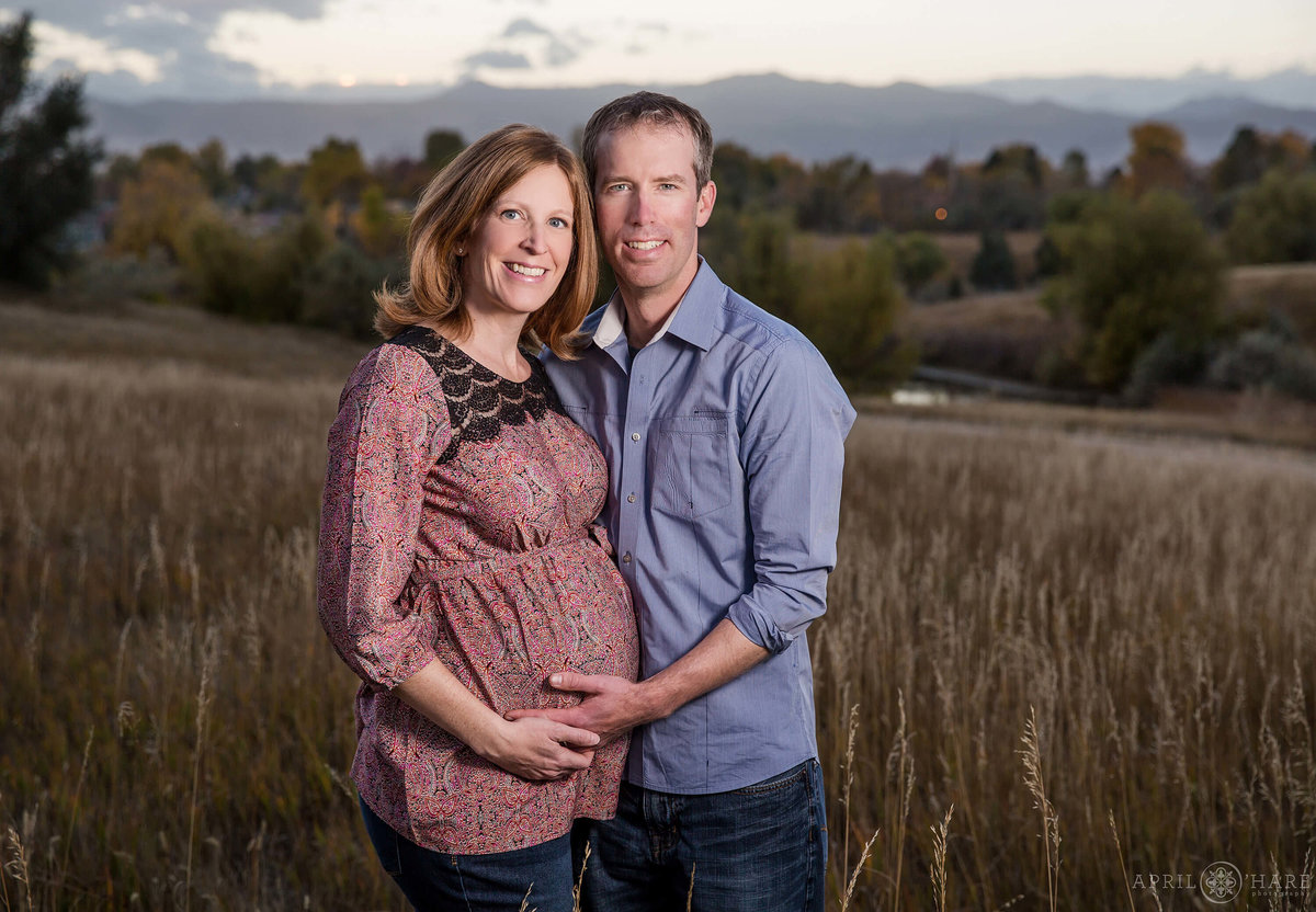 Mountain Backdrop Denver Maternity Photography in Arvada