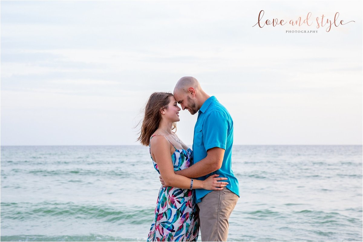 Engagement Photography on Venice Dog Beach during sunset