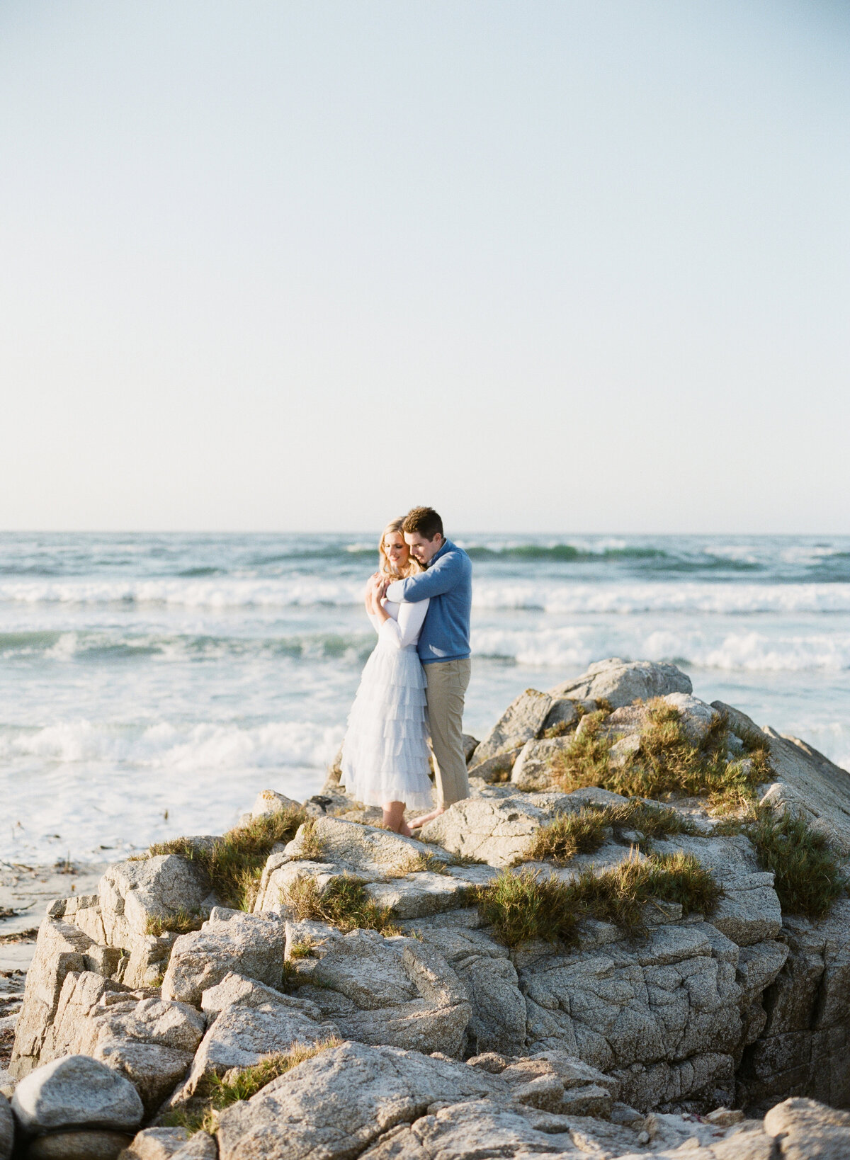 couple overlooks Big Sur beaches during their engagement photography session