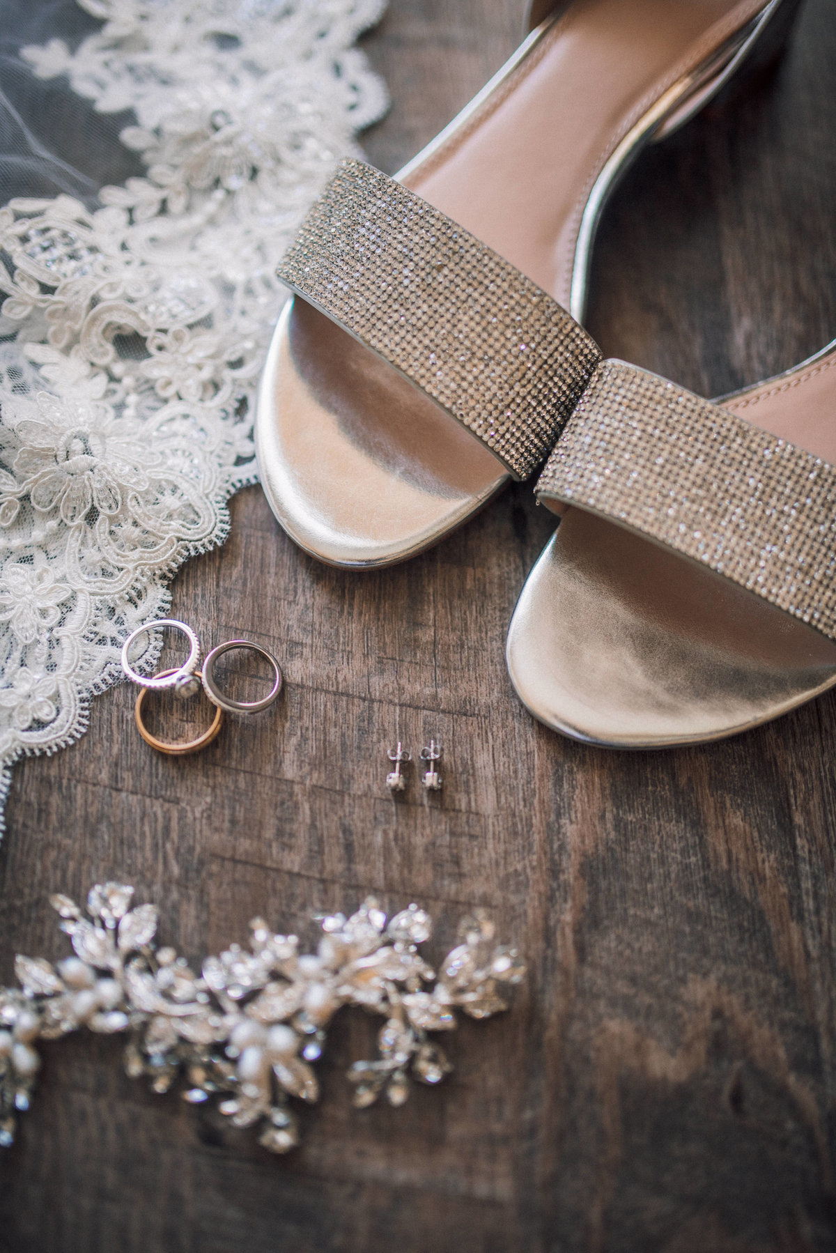 shoes and jewelry for the bride