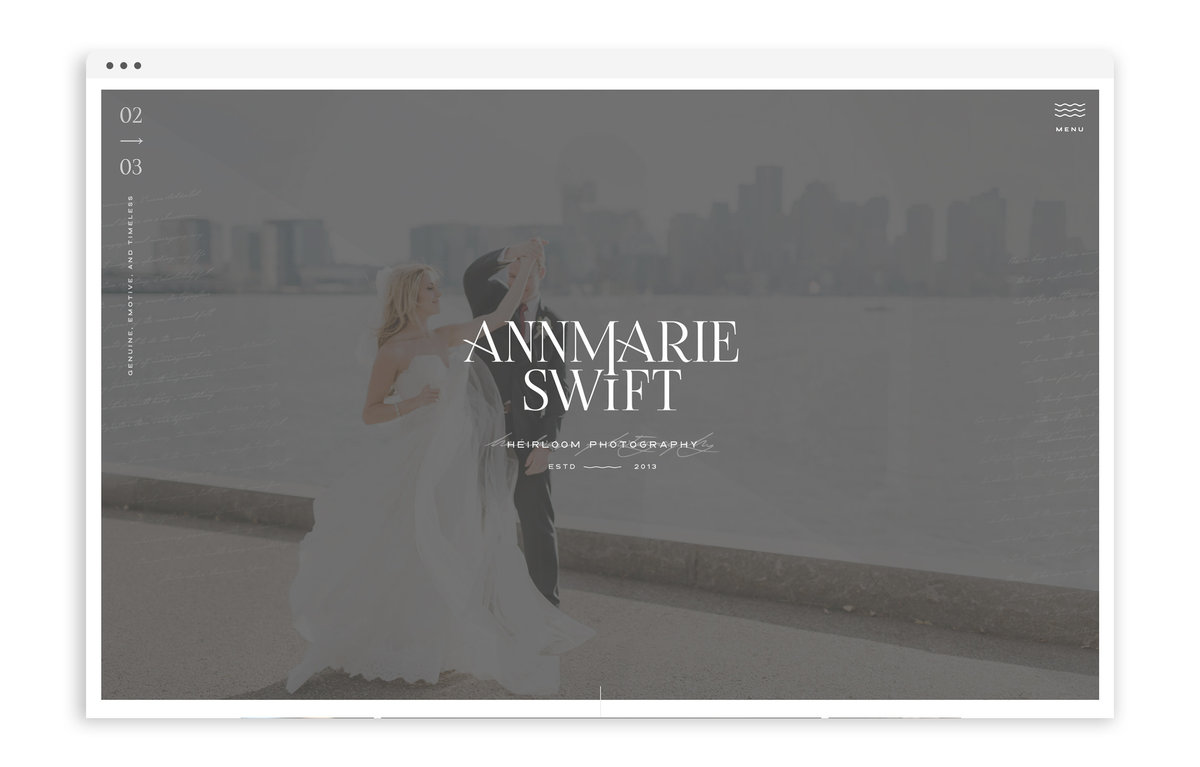 Annmarie Swift Photography - Brand and Showit Web Design by With Grace and Gold - 2