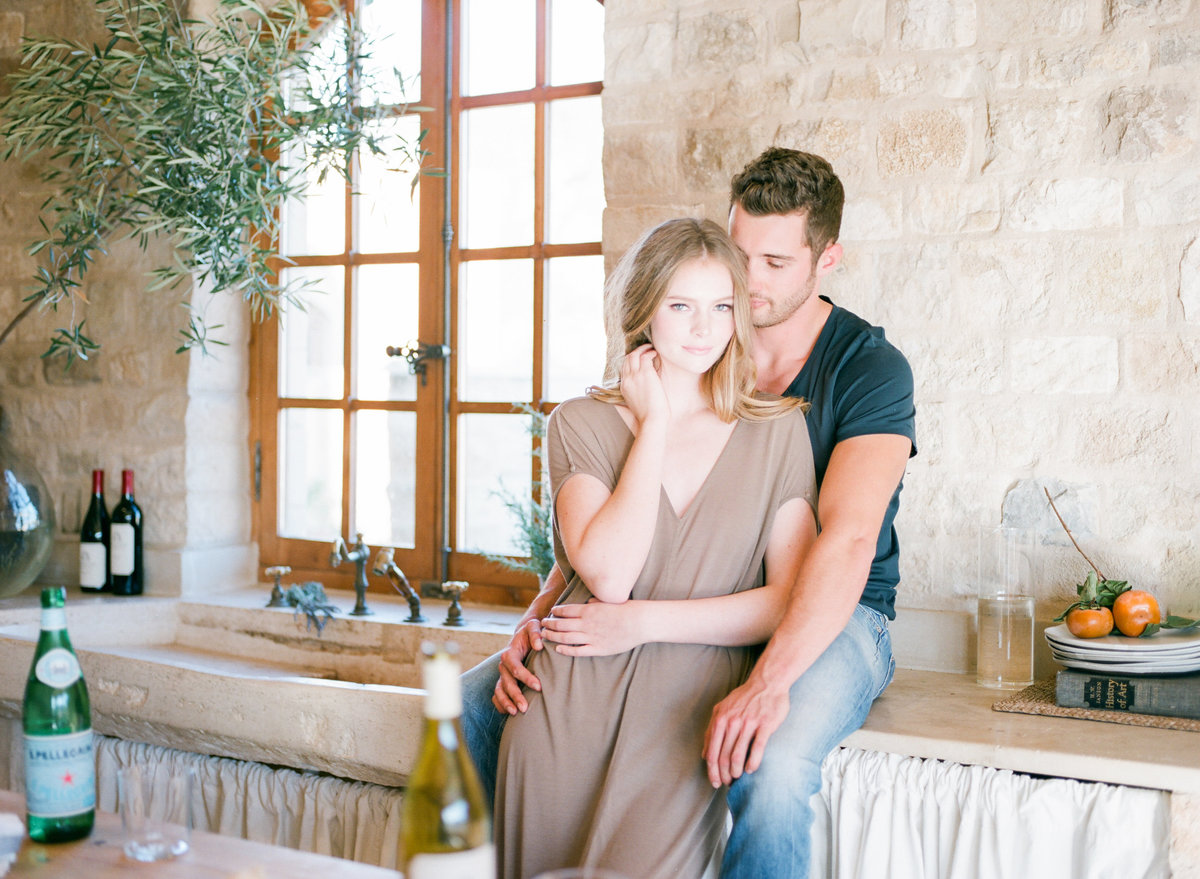 Wine Country Kitchen Engagement Session