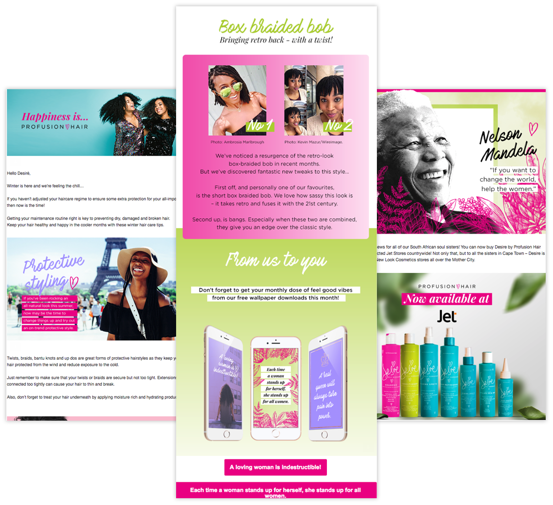 profusionhair newsletters