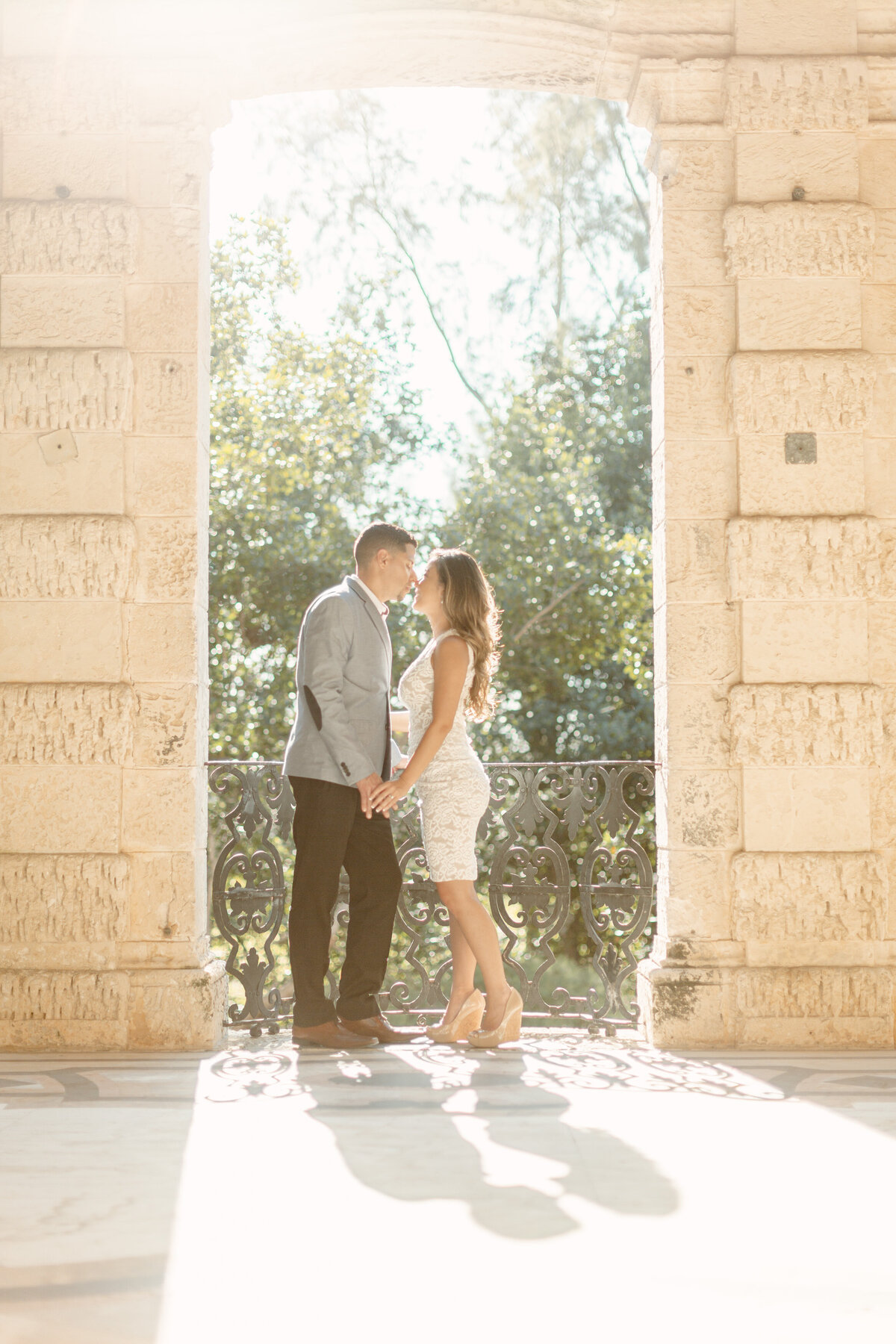 Vizcaya Museum Engagement Photography Session 22
