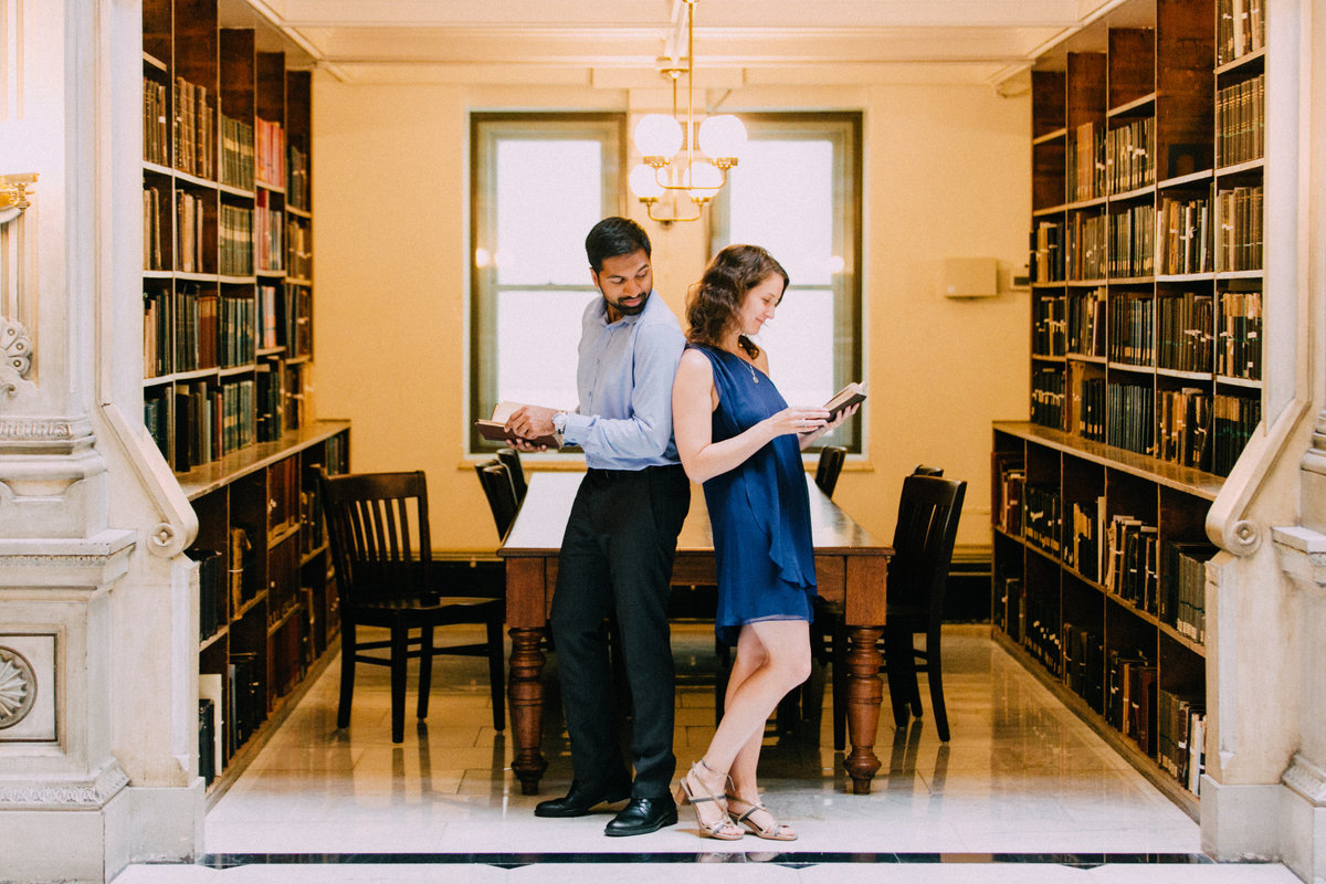 Peabody Library Engagement Photos