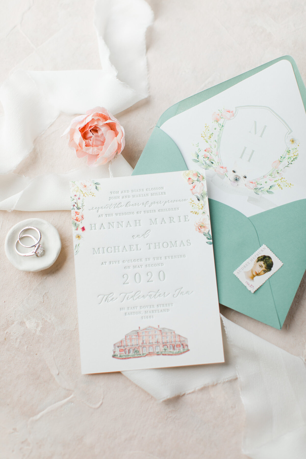 Baltimore Maryland Custom Wedding Invitations
