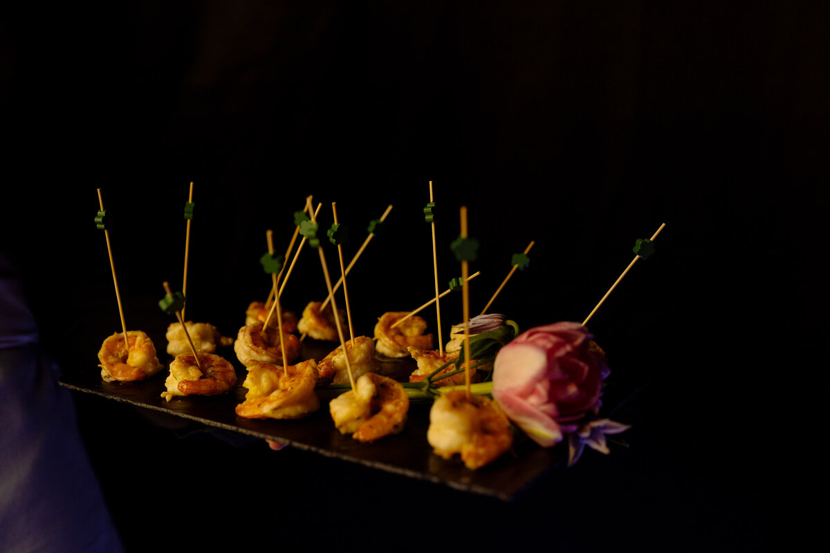 Canapes. Creative food photography Leeds